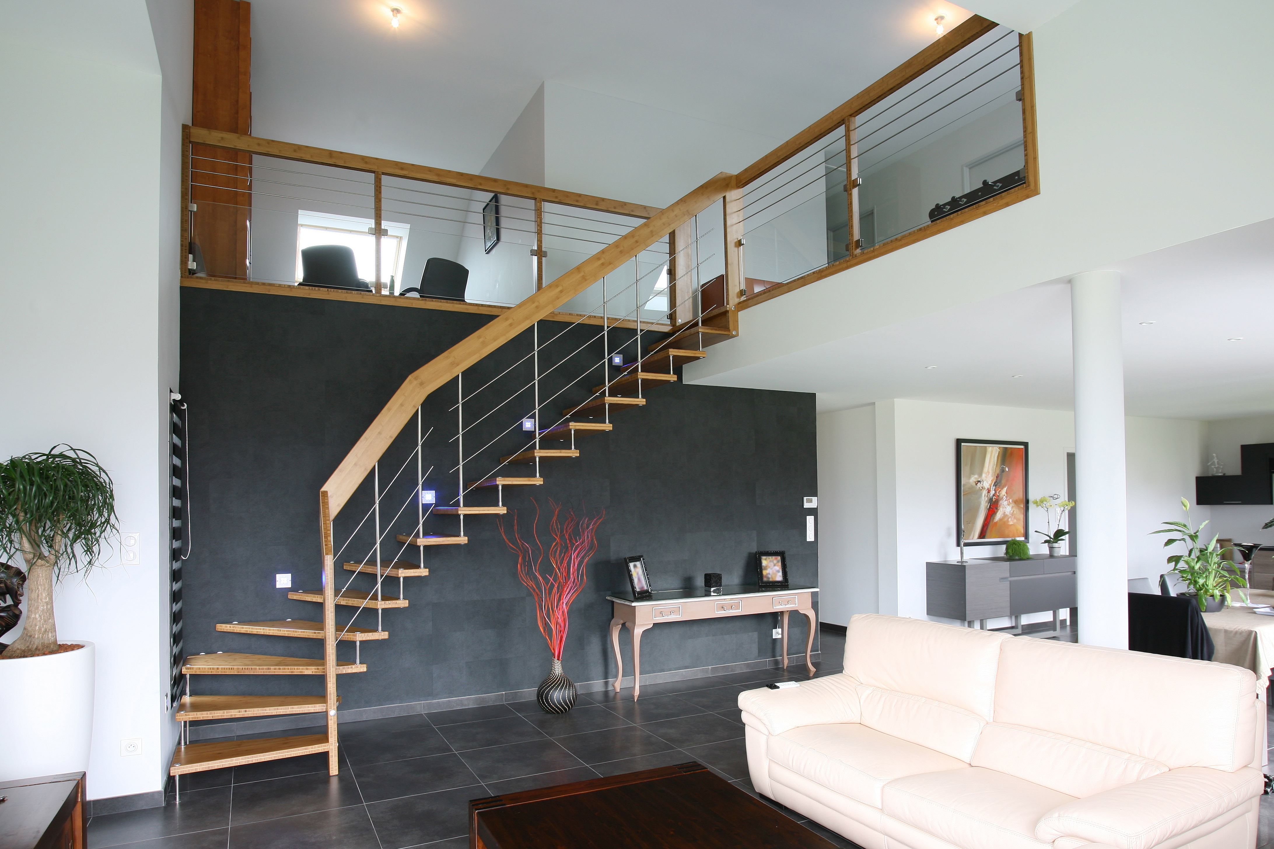l escalier un atout dans votre d co de fil en d co. Black Bedroom Furniture Sets. Home Design Ideas