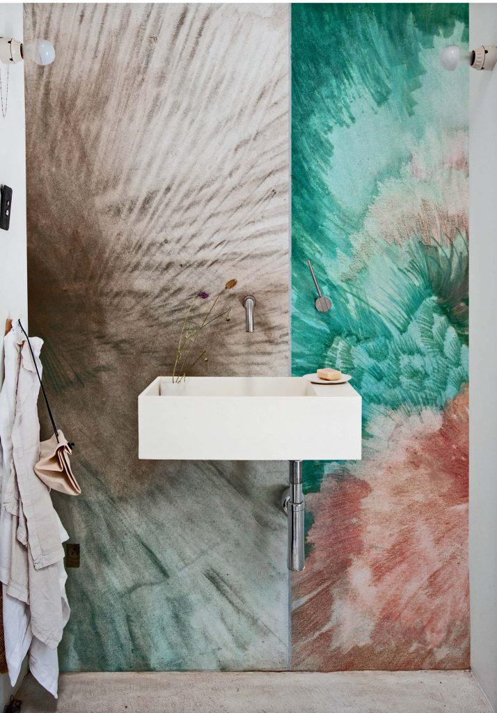 Le papier peint pour pièce humide, dans la salle de bain © Wall&Deco