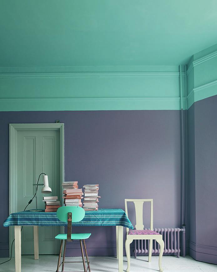 Plafond design coloré