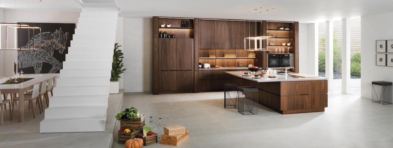 © Porcelanosa - Cuisine Emotion E6 Roble Torrefacto